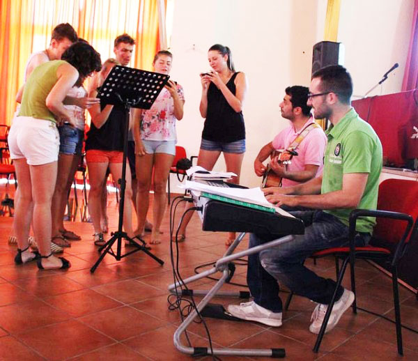 polish students at the singing tests by eprojectconsult and erasmus+