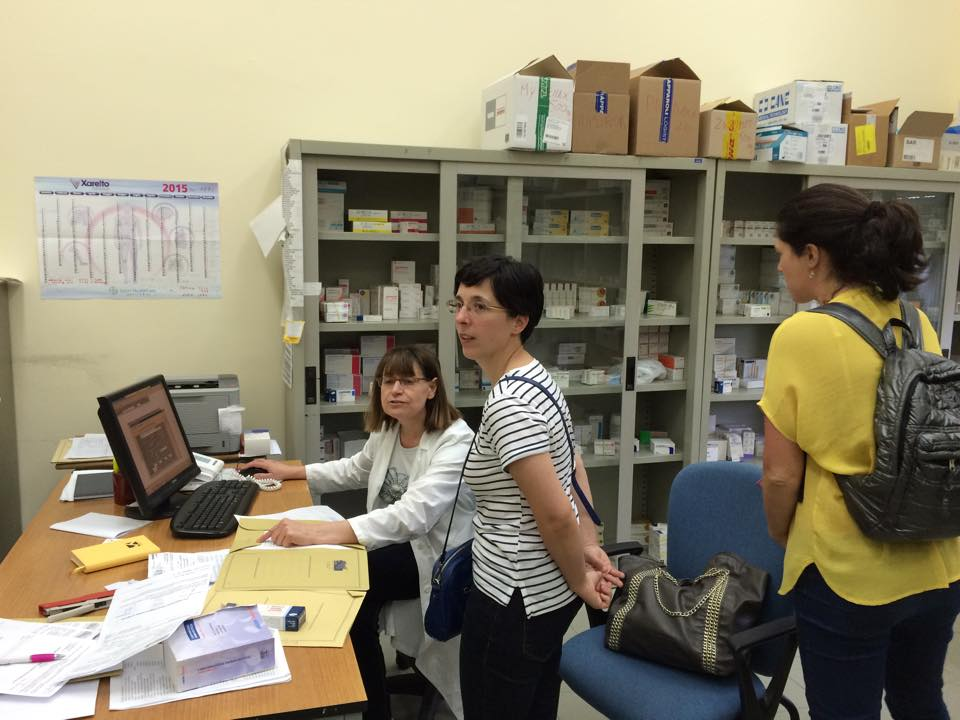 teachers visit at farmacy