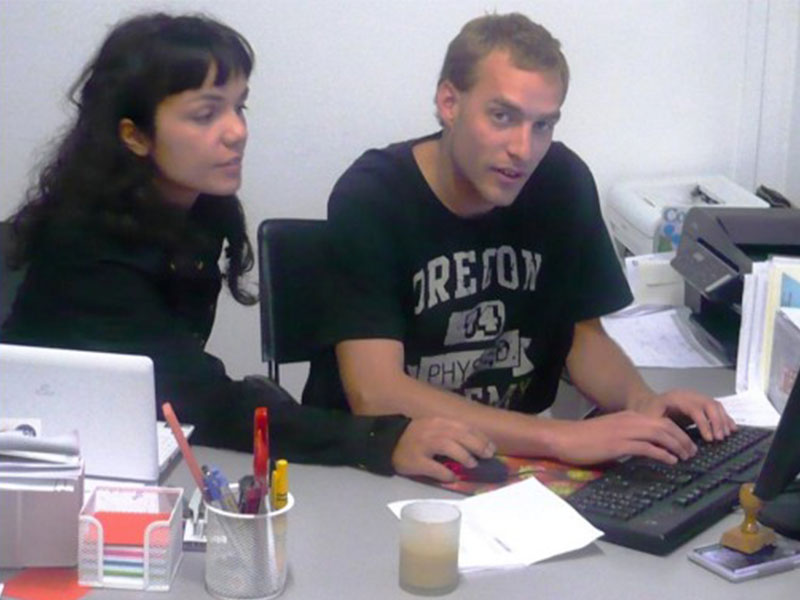 federica from eprojectconsult with intern at the office