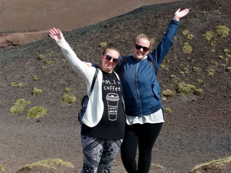eprojectconsult and erasmus+ students at the Etna mount