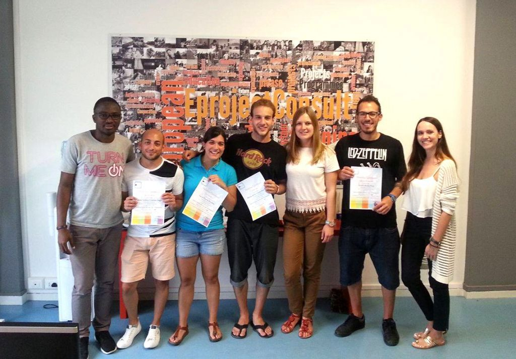 errol and joanna with students at eprojectconsult office