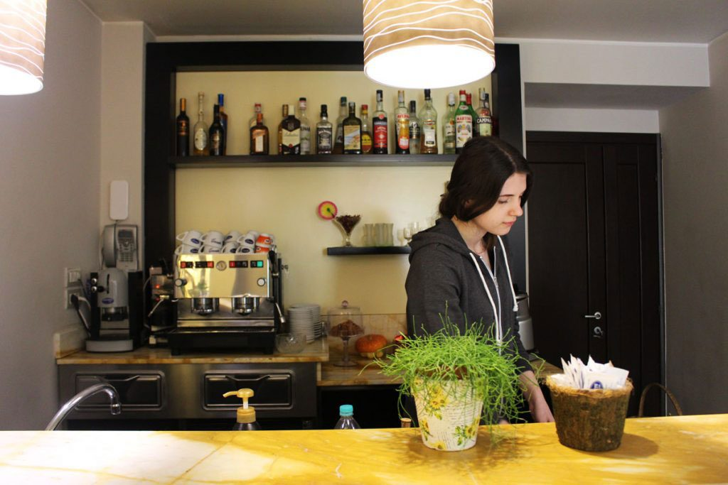 waitress at work by eprojectconsult for erasmus+ program