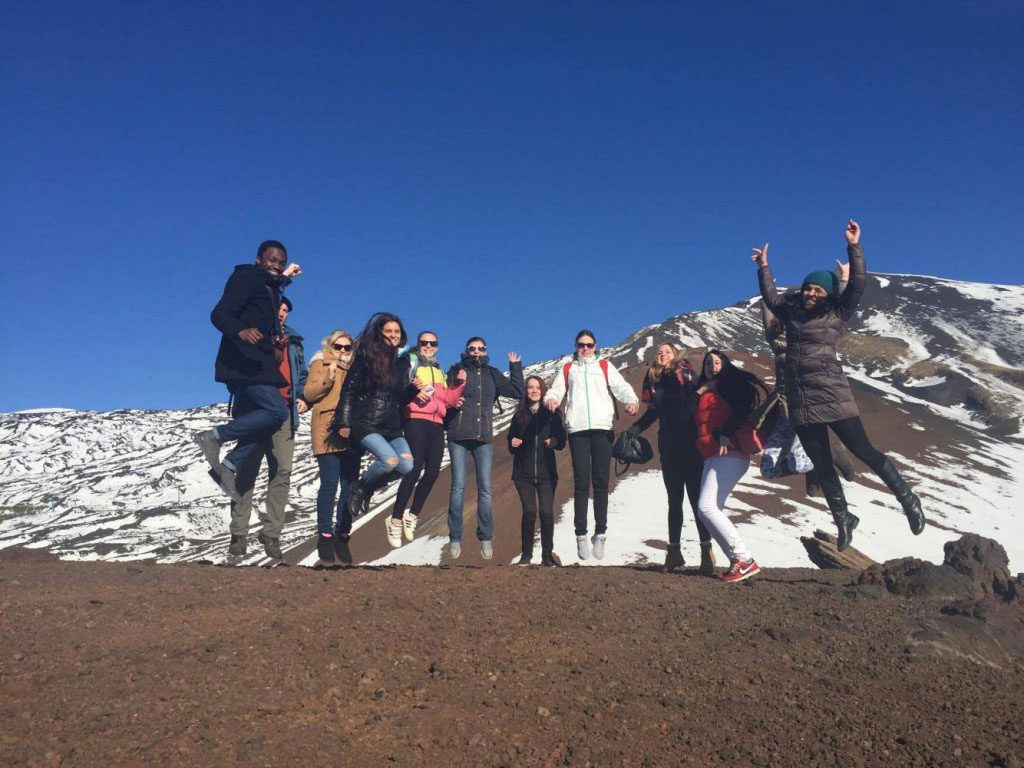 eprojectconsult and the trainers at the excursion to mount etna