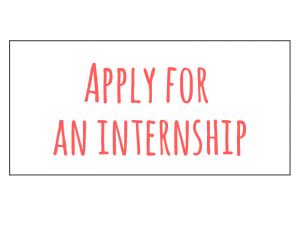 Apply for an internship with EProjectConsult