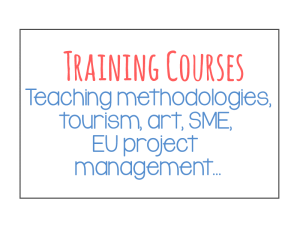 Training courses sectors