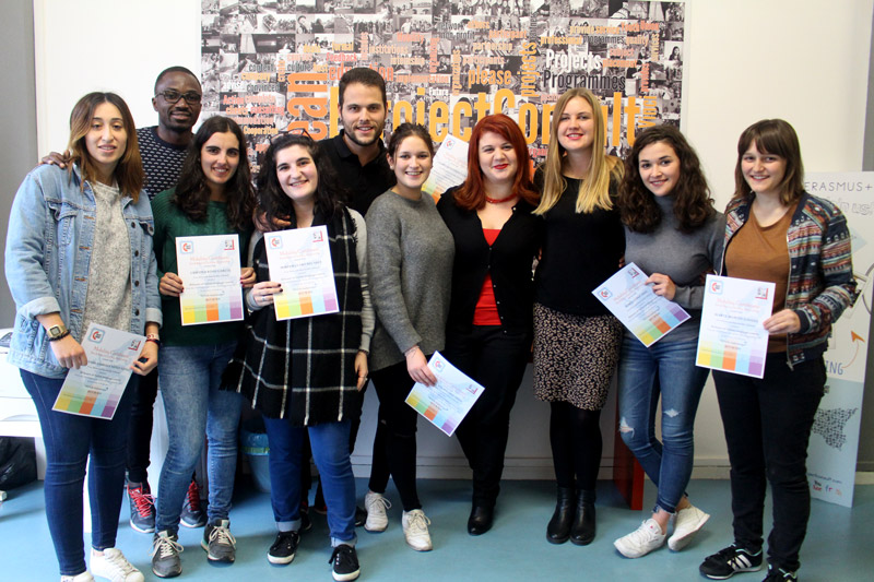 photo of participants at the italian course
