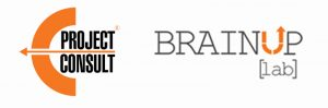EProjectConsult and BrainUp Lab logo images